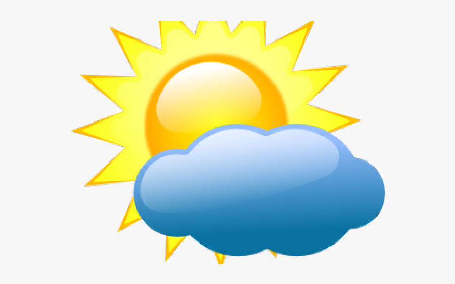 Weather Forecast Partly Cloudy, Transparent Clipart