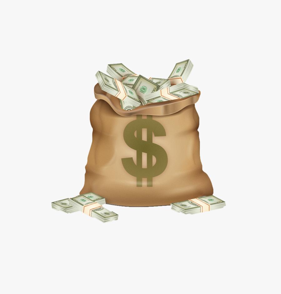 Transparent Bag Of Gold Png - Bag Of Money Png, Transparent Clipart
