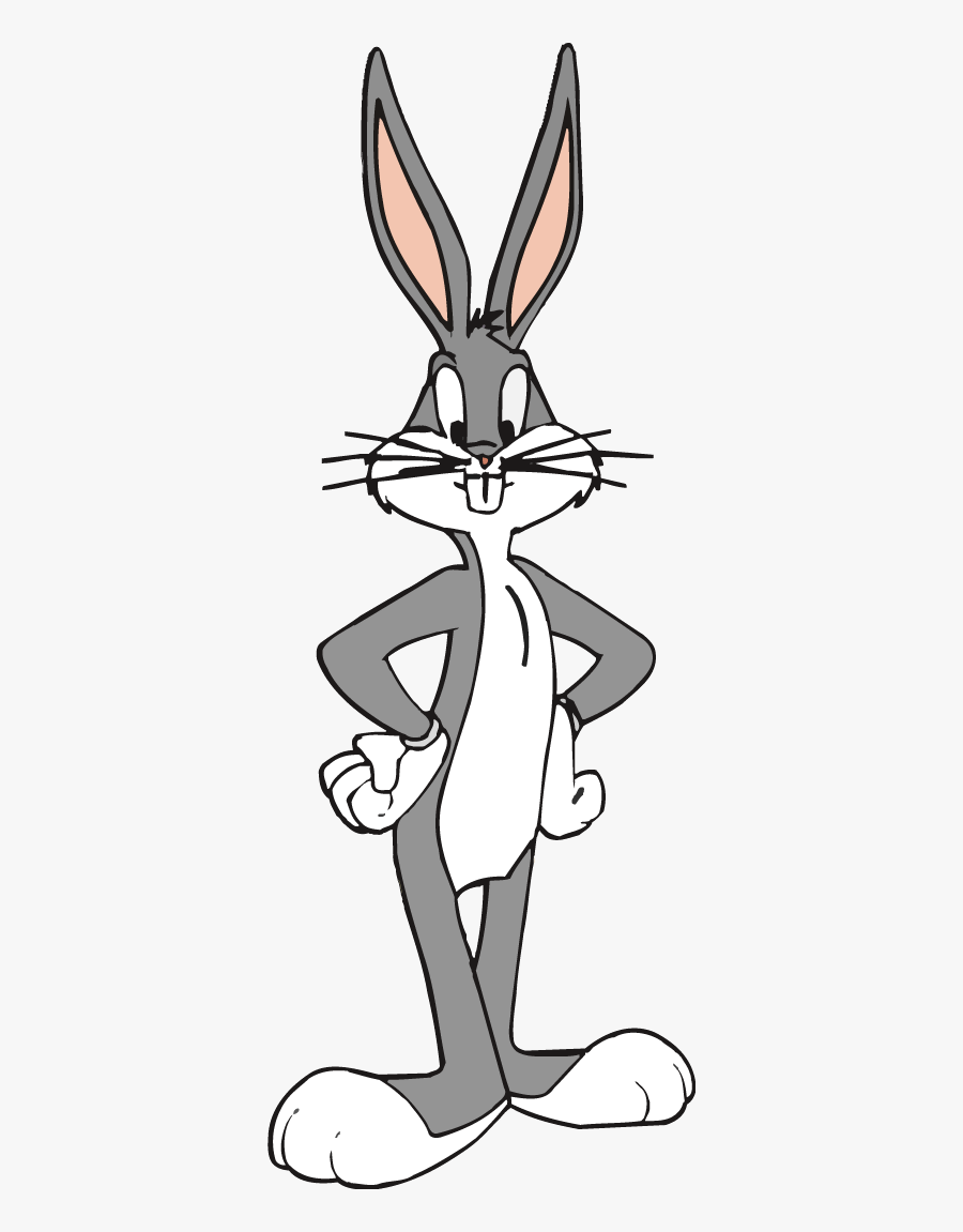 Bugs Bunny Clipart - Bugs Bunny Standing Straight, Transparent Clipart