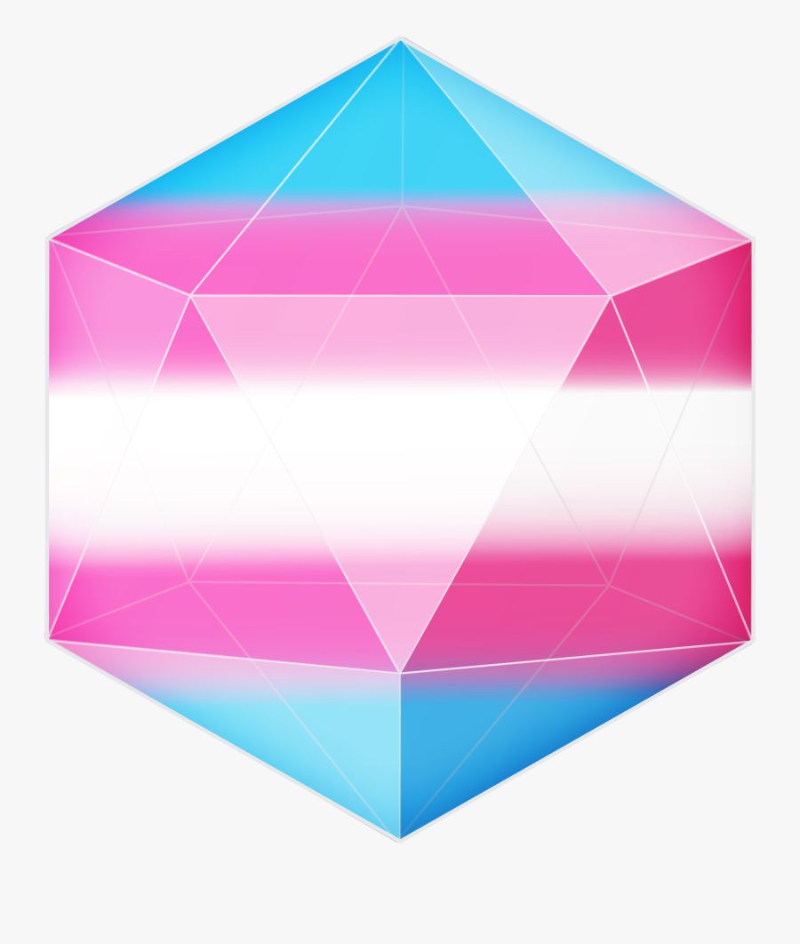 """So, Here Are Some Pride Flag D20""""s They""""re Transparent - Transparent Trans Flag, Transparent Clipart"""