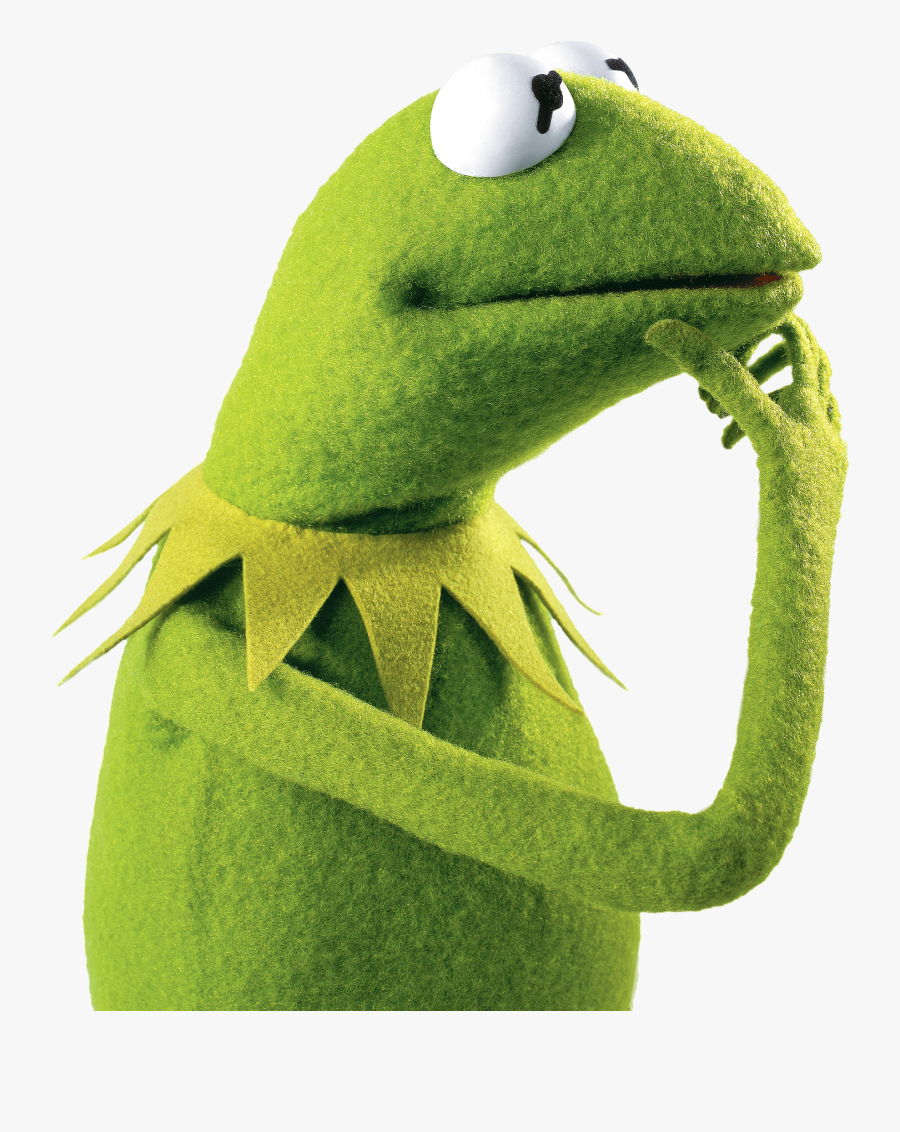 Kermit The Frog Thinking - Kermit Thinking Png, Transparent Clipart