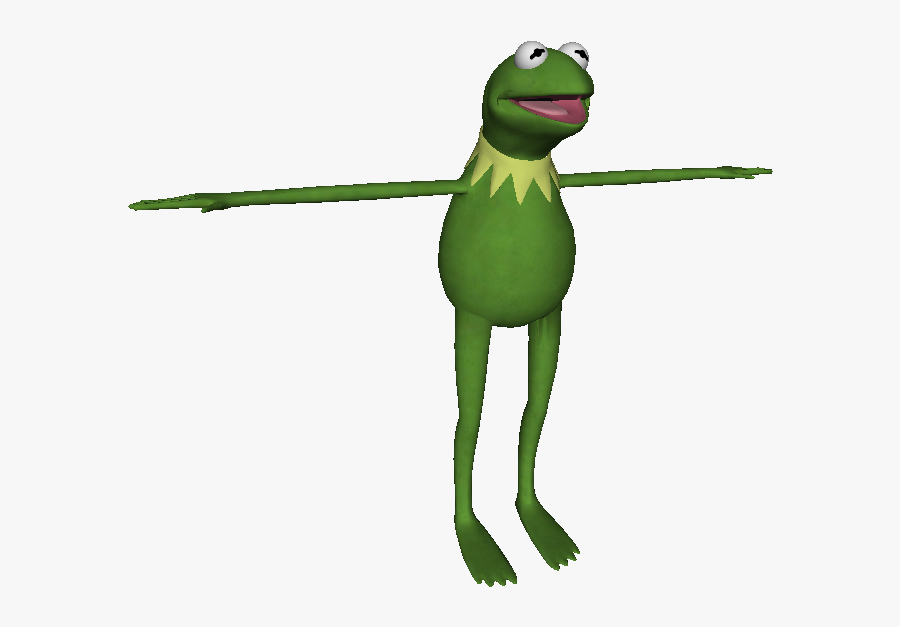 Download Zip Archive - Kermit The Frog T Pose, Transparent Clipart