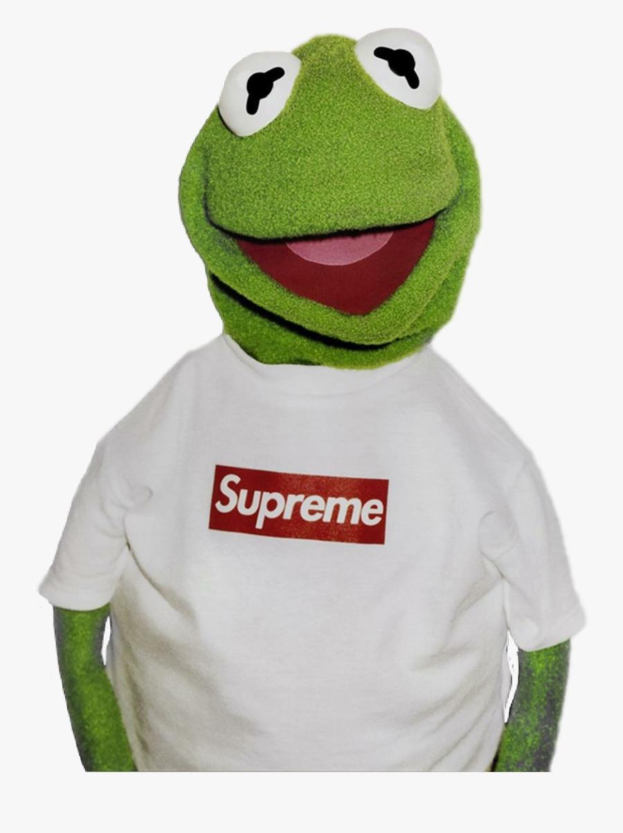 Transparent Supreme Kermit The Frog - Kermit The Frog Drawing Supreme, Transparent Clipart