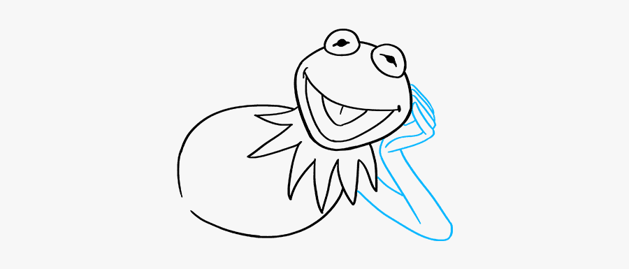 How To Draw Kermit The Frog - Easy Kermit The Frog Drawing, Transparent Clipart