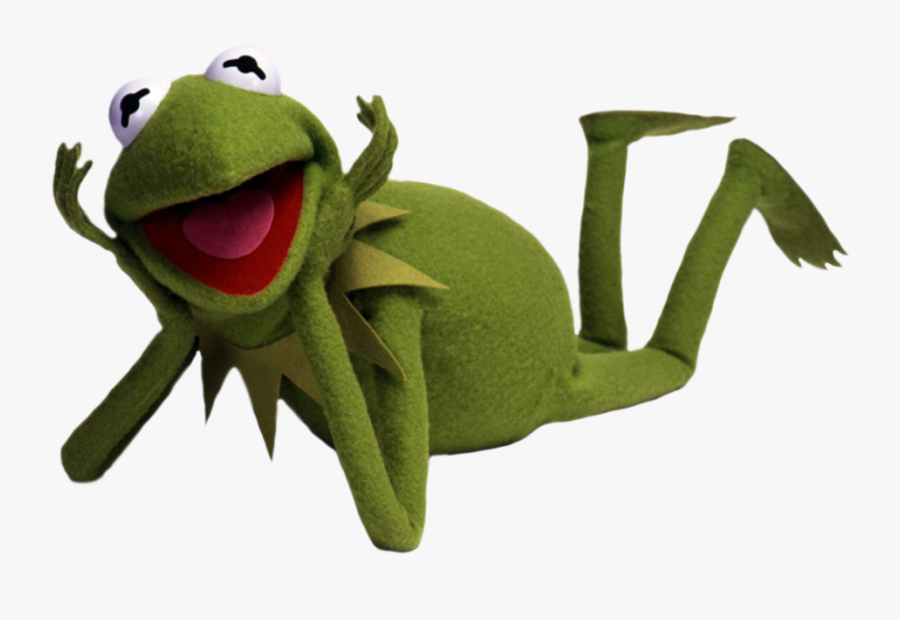 Frog,amphibian,tree Frog,true Frog,tree Character,hyla - Kermit The Frog Laying Down, Transparent Clipart