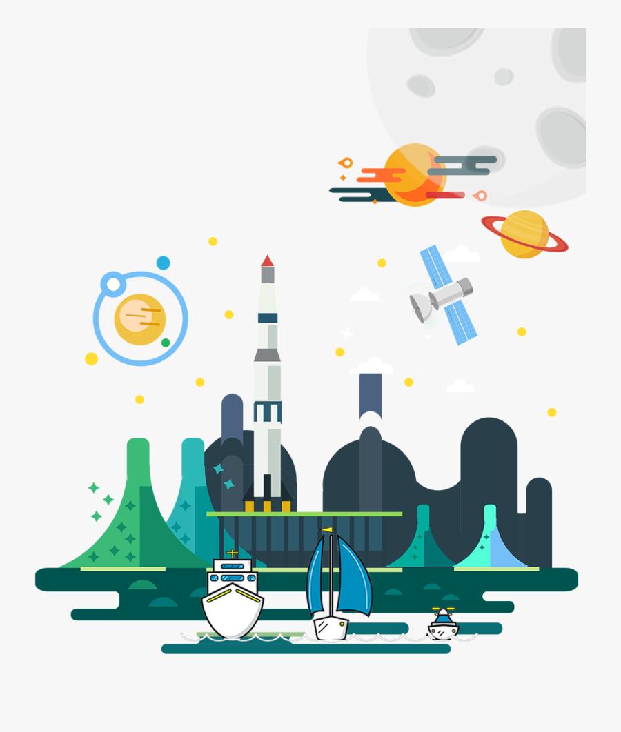 Transparent Design And Technology Clipart - Flat Design Poster Template, Transparent Clipart