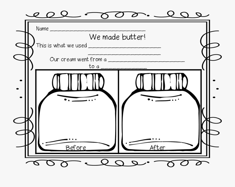 First Grade Wow Sarah - We Made Butter Worksheet, Transparent Clipart