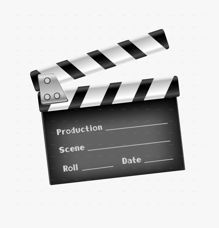 Movies Vector Clapper Board Invitation - Clapper Board Transparent Background, Transparent Clipart