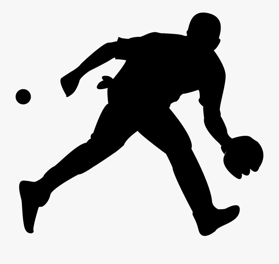Baseball Silhouette Clip Art - Silhouette Drawing Of A Sport, Transparent Clipart