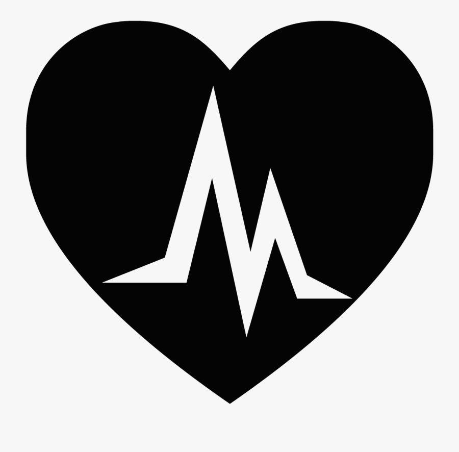 Logo Heart Electrocardiography Black - Black Heart Pictures Download, Transparent Clipart