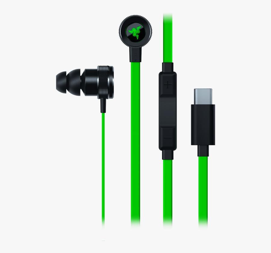 Earbuds Clipart Digital Music - Razer Hammerhead Pro V2 Usb C, Transparent Clipart