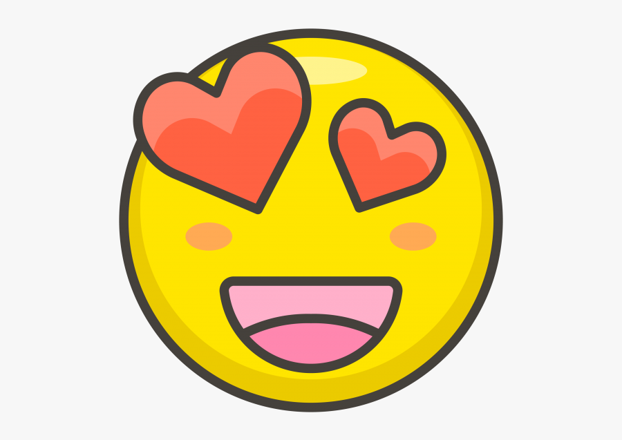 Smiling Face With Heart Eyes Emoji - Heart Eyes Emoji, Transparent Clipart