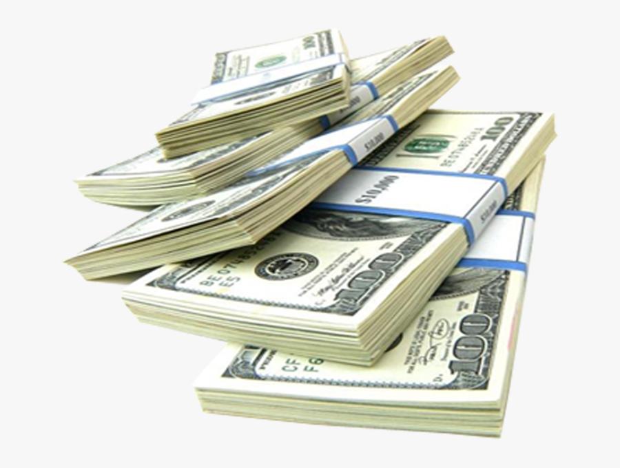 Dollar Transparent Stacks - Stack Of Hundred Dollar Bills Png, Transparent Clipart