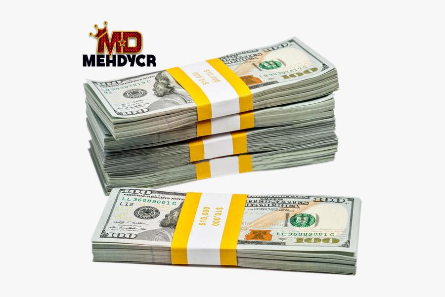 Money Stack Png - Bundle Of 100 Us Dollar, Transparent Clipart