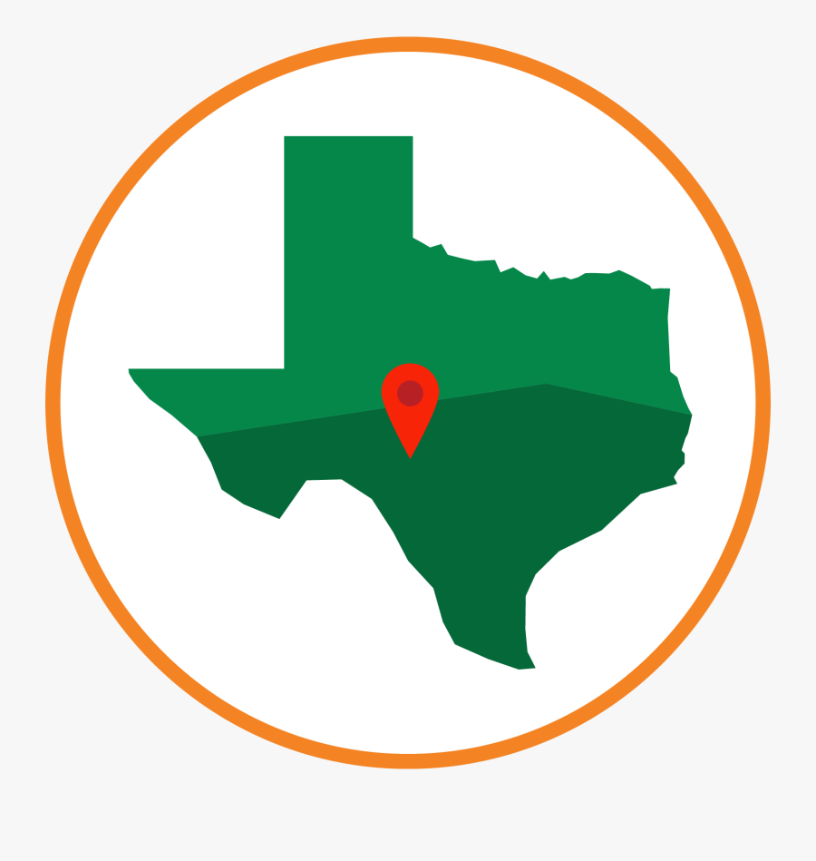 Transparent Holiday Lights Png - Blue Map Of Texas, Transparent Clipart