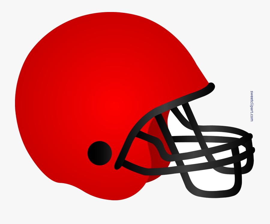 Football Helmet Red Clip Art Transparent Png - Red Football Helmet Clip Art, Transparent Clipart