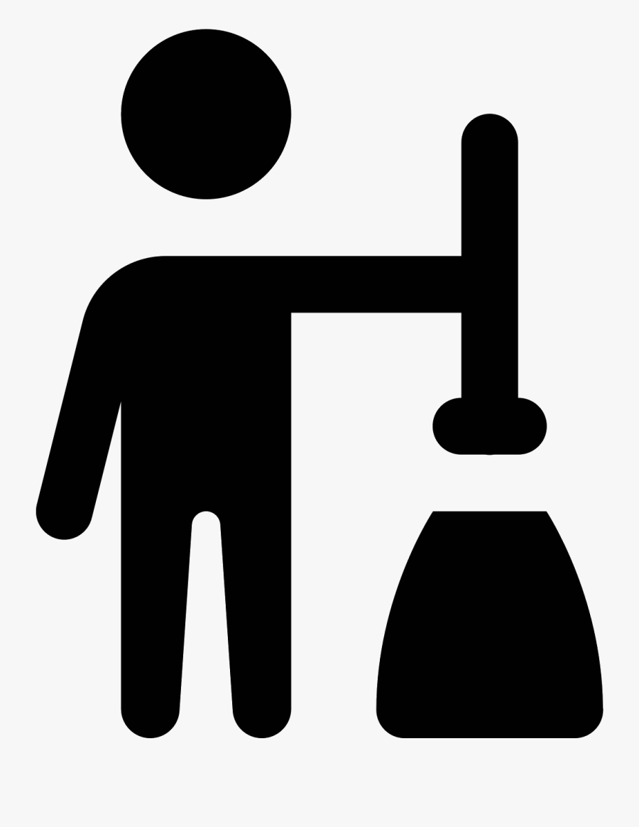 Clean Vector Janitor - Sign, Transparent Clipart