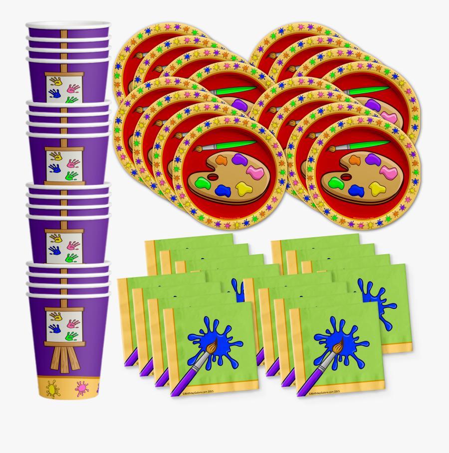 Little Artist Birthday Party Supplies - Gymnastics Party Supplies, Transparent Clipart
