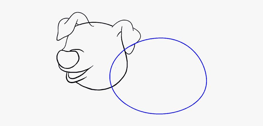How To Draw Cartoon Pig - Pig Head Drawing Cartoon, Transparent Clipart