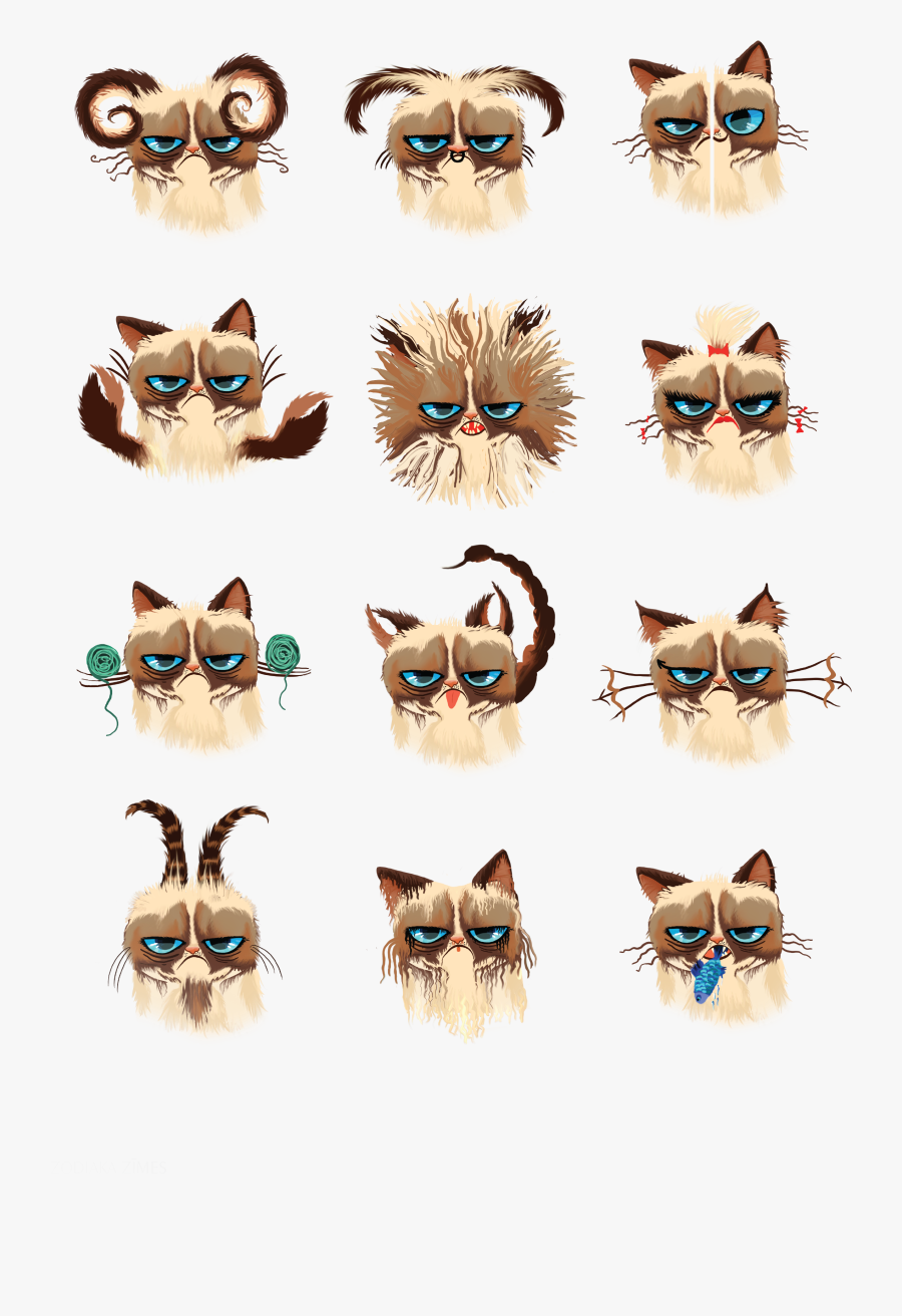Transparent Grumpy Cat Png - Cat Zodiac Signs, Transparent Clipart