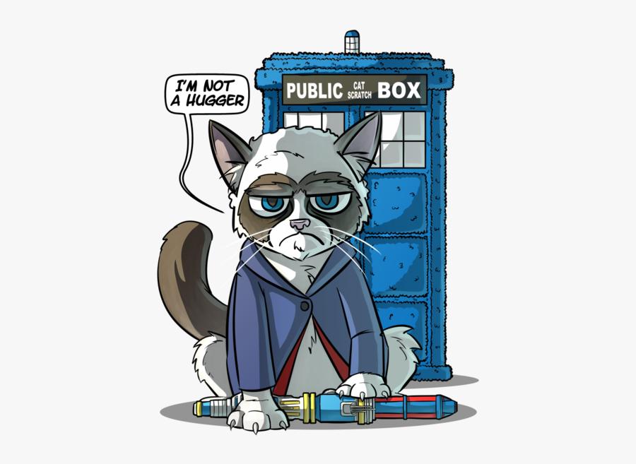 Grumpy Doctor Cat - Cartoon, Transparent Clipart