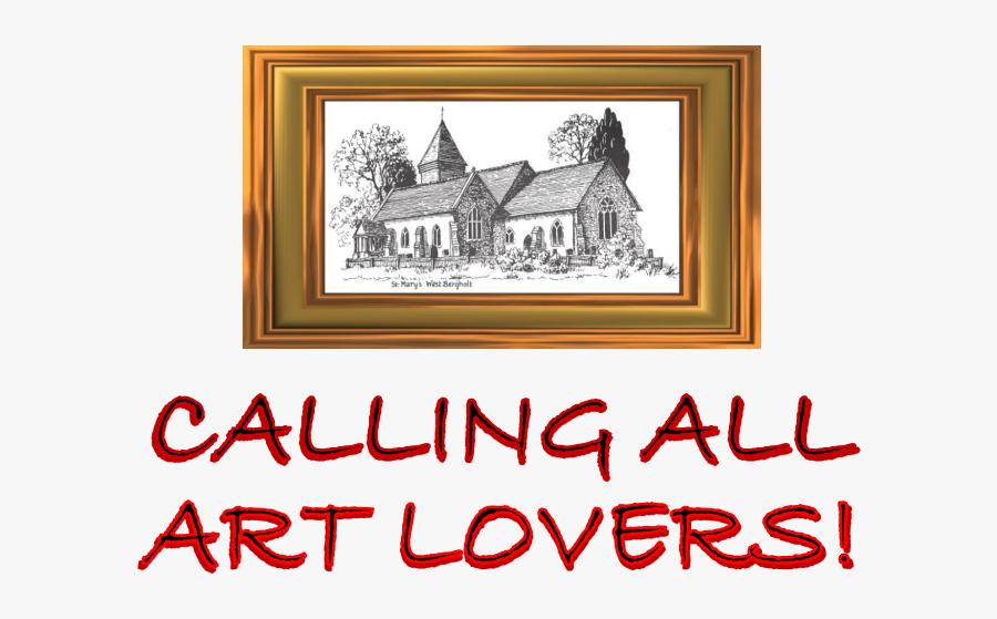 Art In The Old Church Banner - Urban Garden, Transparent Clipart