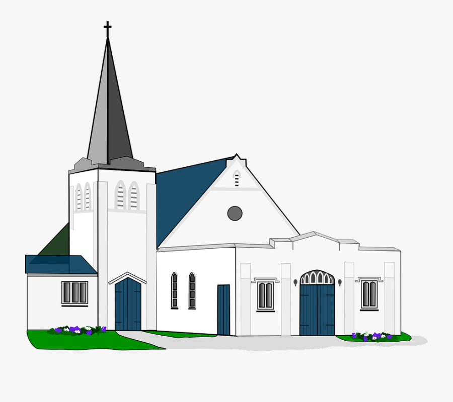 Church, Baptist, Steeple, Christianity, Religion - Church Png, Transparent Clipart