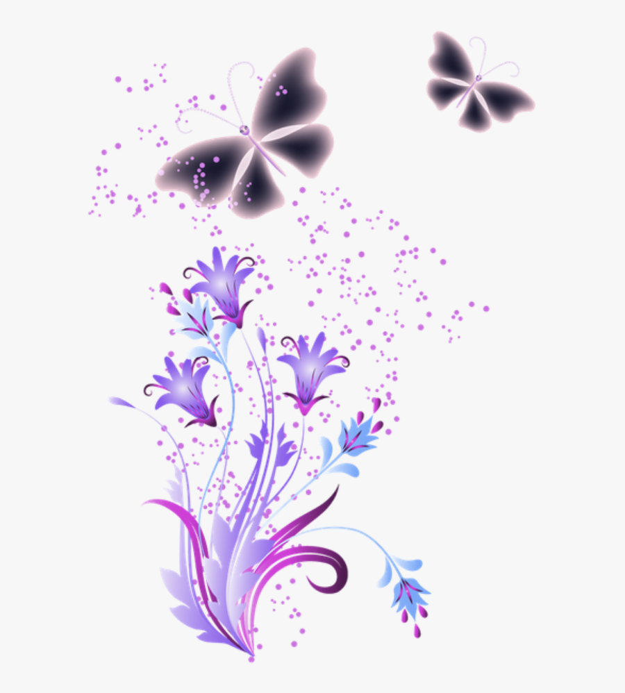 #mq #purple #butterfly #butterflys #glitter - Mariposa Png, Transparent Clipart