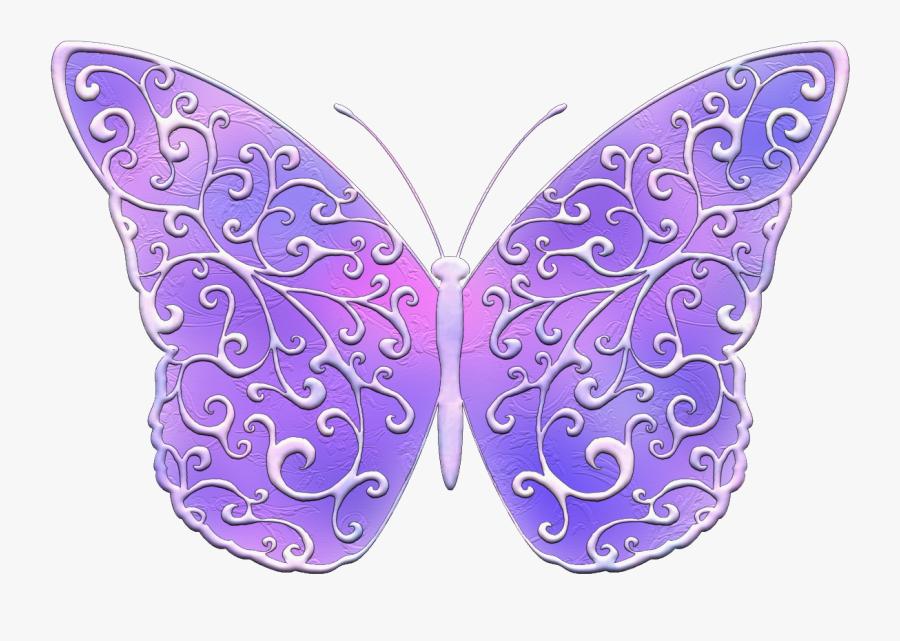 Purple Butterfly Clip Art - Swallowtail Butterfly, Transparent Clipart