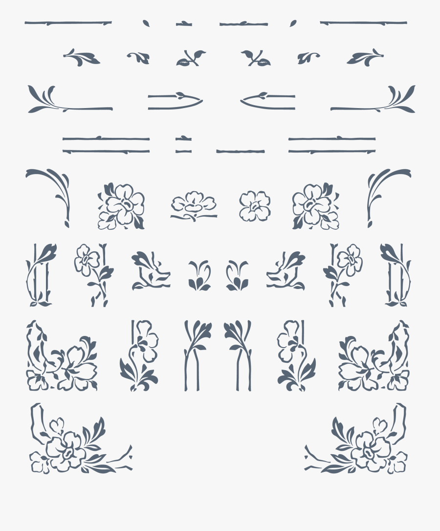 Art Nouveau Elements Vector, Transparent Clipart