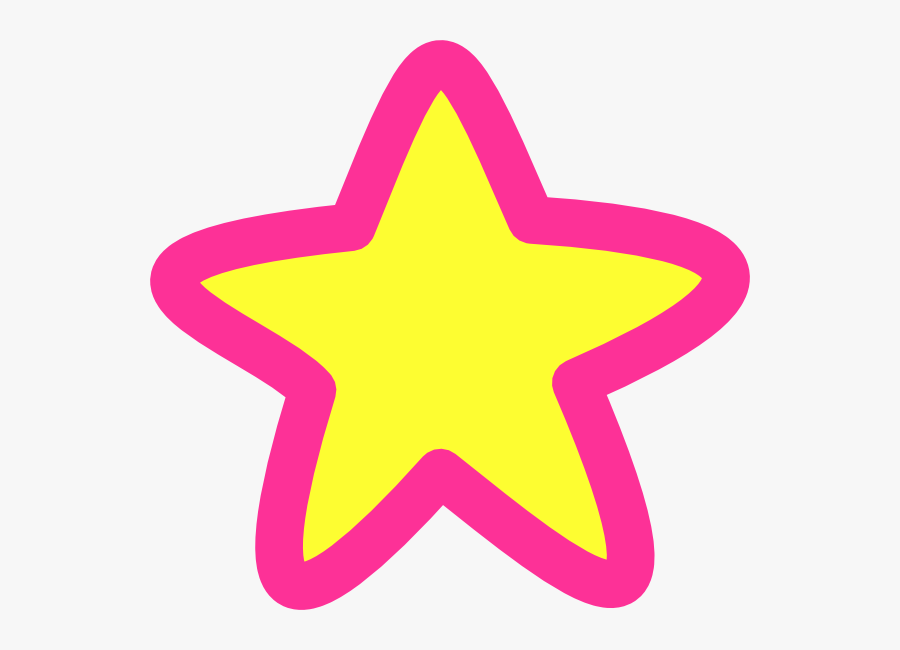 Yellow And Pink Star, Transparent Clipart