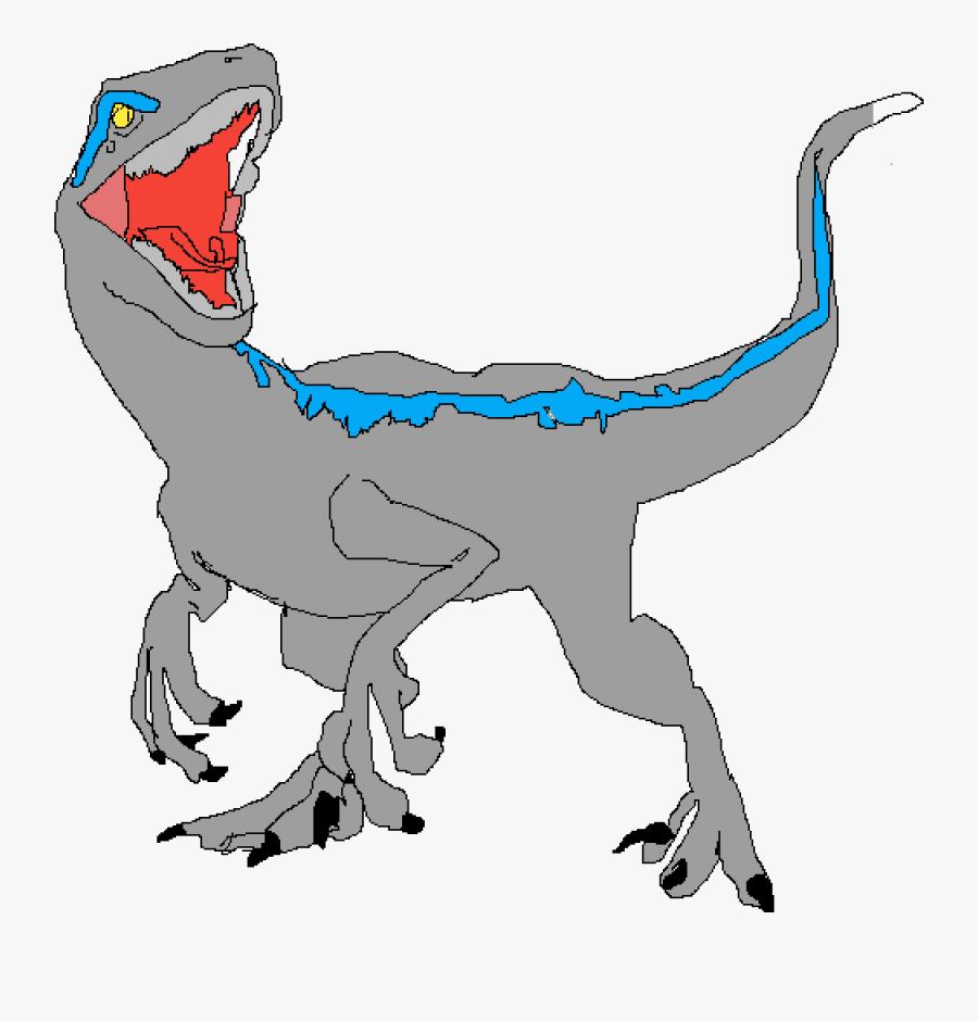 Blue Raptors Dino Cartoon, Transparent Clipart