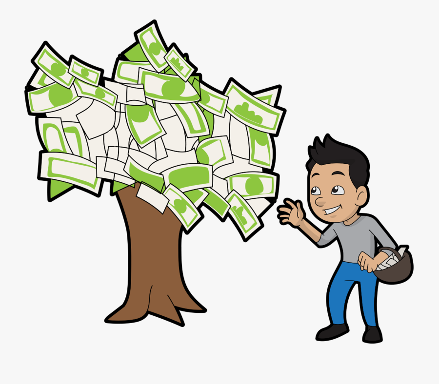 Man A Money Tree Cliparts, Transparent Clipart