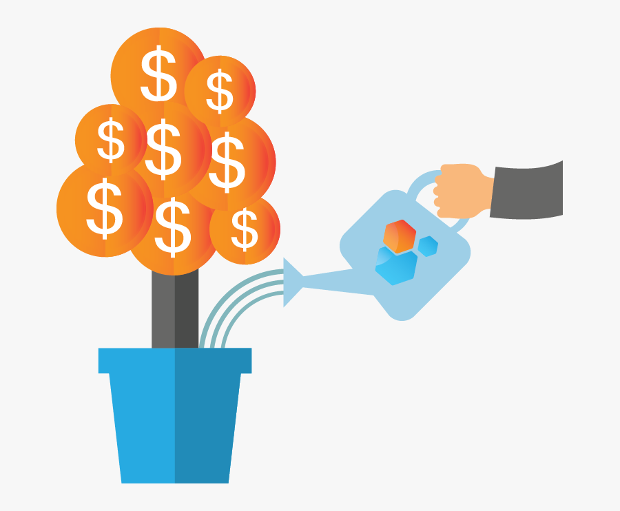 Growing Money Tree Icon, Transparent Clipart