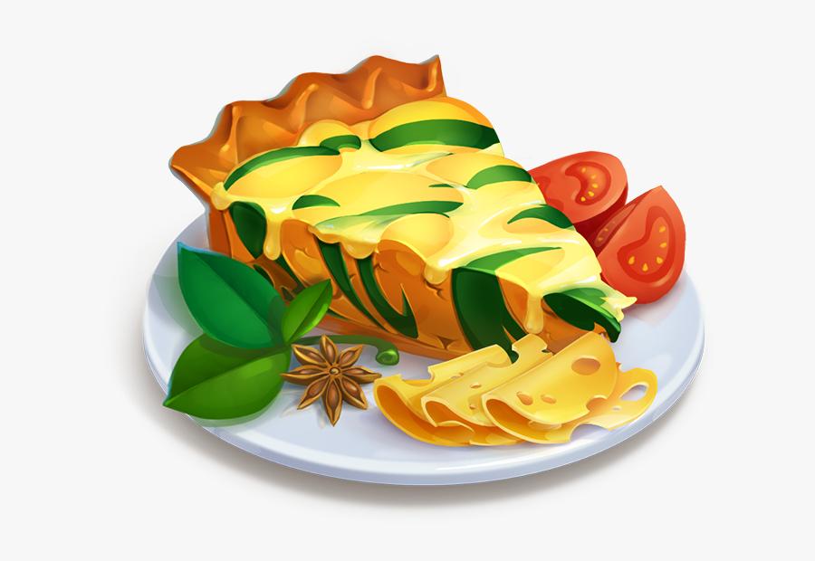 Spinach And Gruyere Quiche - Caprese Salad, Transparent Clipart