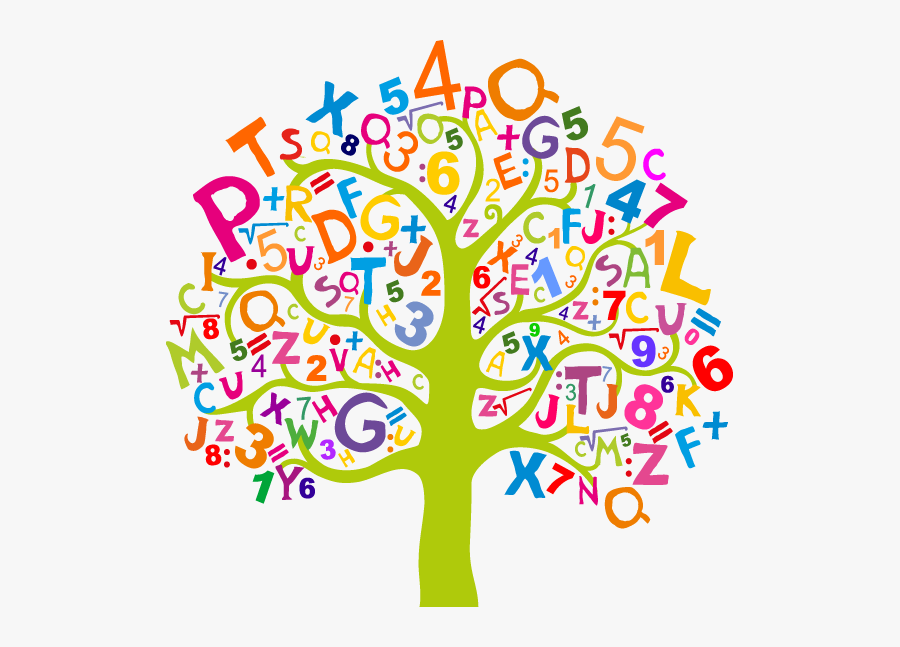 Tree Clipart Literacy - Letters And Numbers Clipart , Free ...
