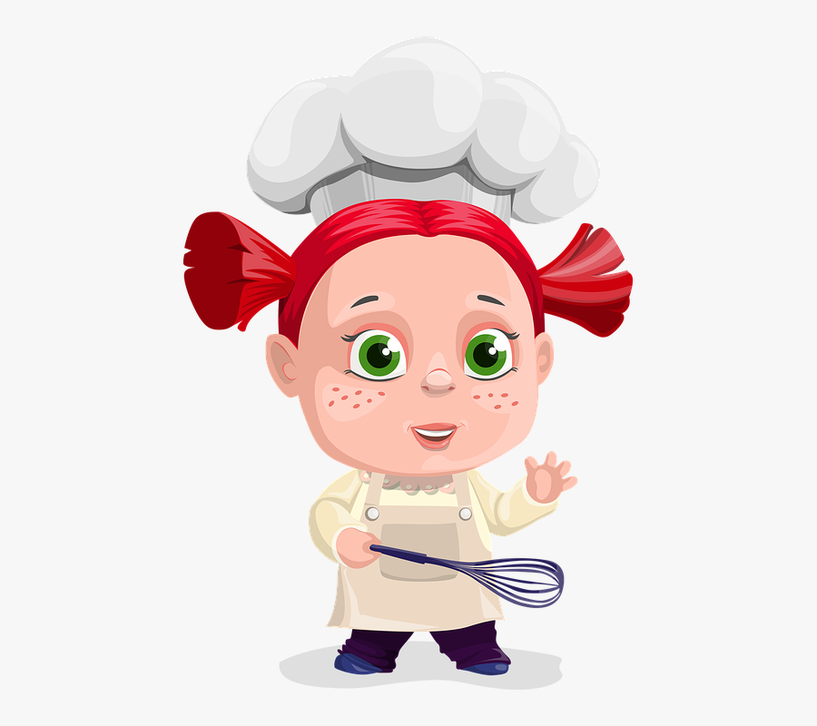 Girl, Cook, Cooking, Paddle, Kid, Child, Food, Kitchen - Male Cartoon Character With Freckles, Transparent Clipart