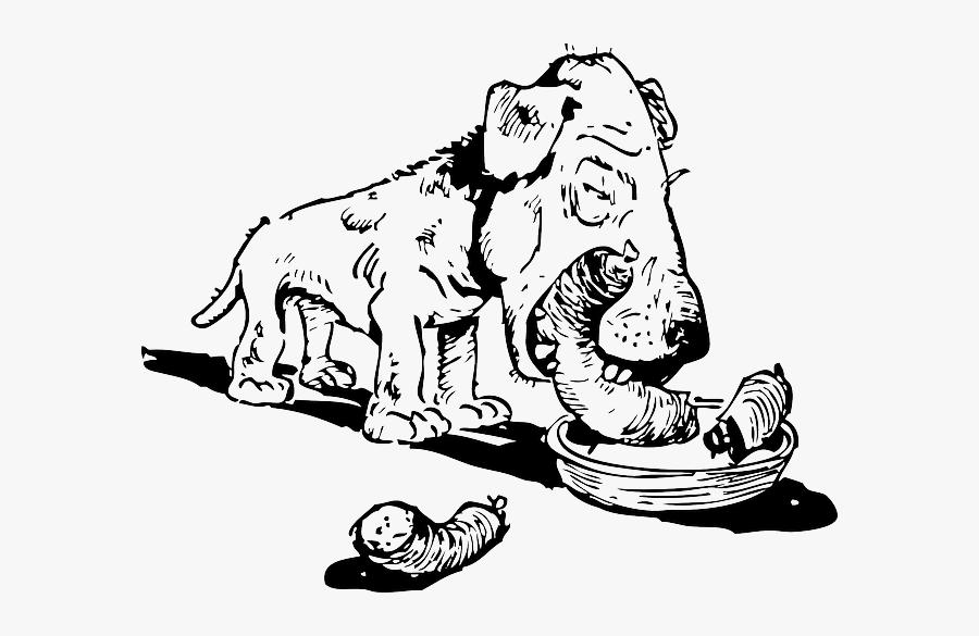 Cartoon Dog Eating A Cat, Transparent Clipart