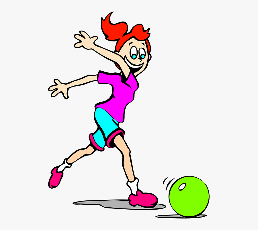 Girl, Ball, Playing, Happy, Laughing, Fun, Happiness - Roll The Ball Clipart, Transparent Clipart