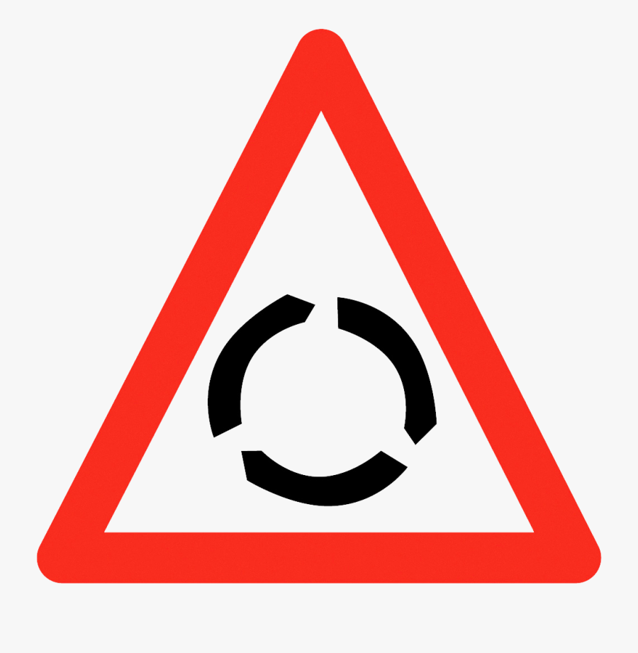 The Roundabout Crew This Is The Official Website Of - Left Turn Sign Board, Transparent Clipart