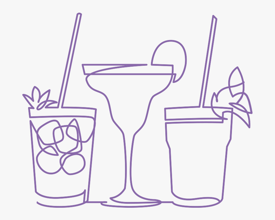 """  Class=""lazyload Lazyload Fade In ""  Data Sizes=""auto""  - Continuous Line Drawing Of Exotic Cocktail Drinks, Transparent Clipart"