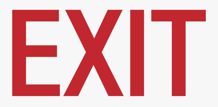 Download-exit - Exit Sign, Transparent Clipart