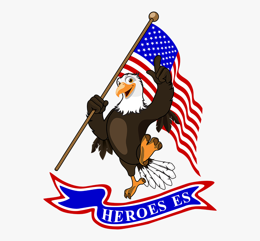 Heroeses Mascot - Eagles Holding A Sign Clipart, Transparent Clipart