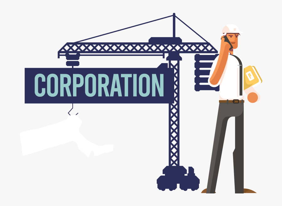 A Man Forming A Corporation In Massachusetts - Corporation, Transparent Clipart