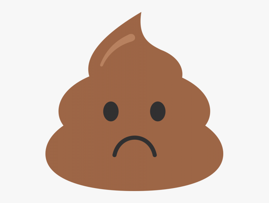 A Sad Poop Emoji Free Transparent Clipart Clipartkey