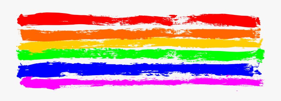 Transparent Stroke Clipart - Rainbow Banner Transparent Background, Transparent Clipart