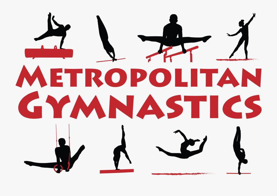 Gymnast Clipart Bridge - Gymnastics Silhouette, Transparent Clipart