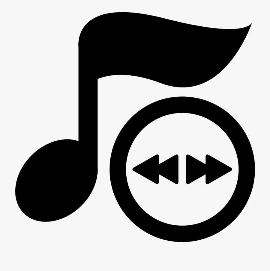Transparent Eighth Note Png - Icono De Reproductor De Musica, Transparent Clipart