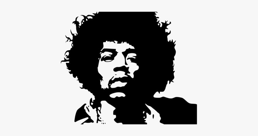 Jimi Hendrix Black And White, Transparent Clipart