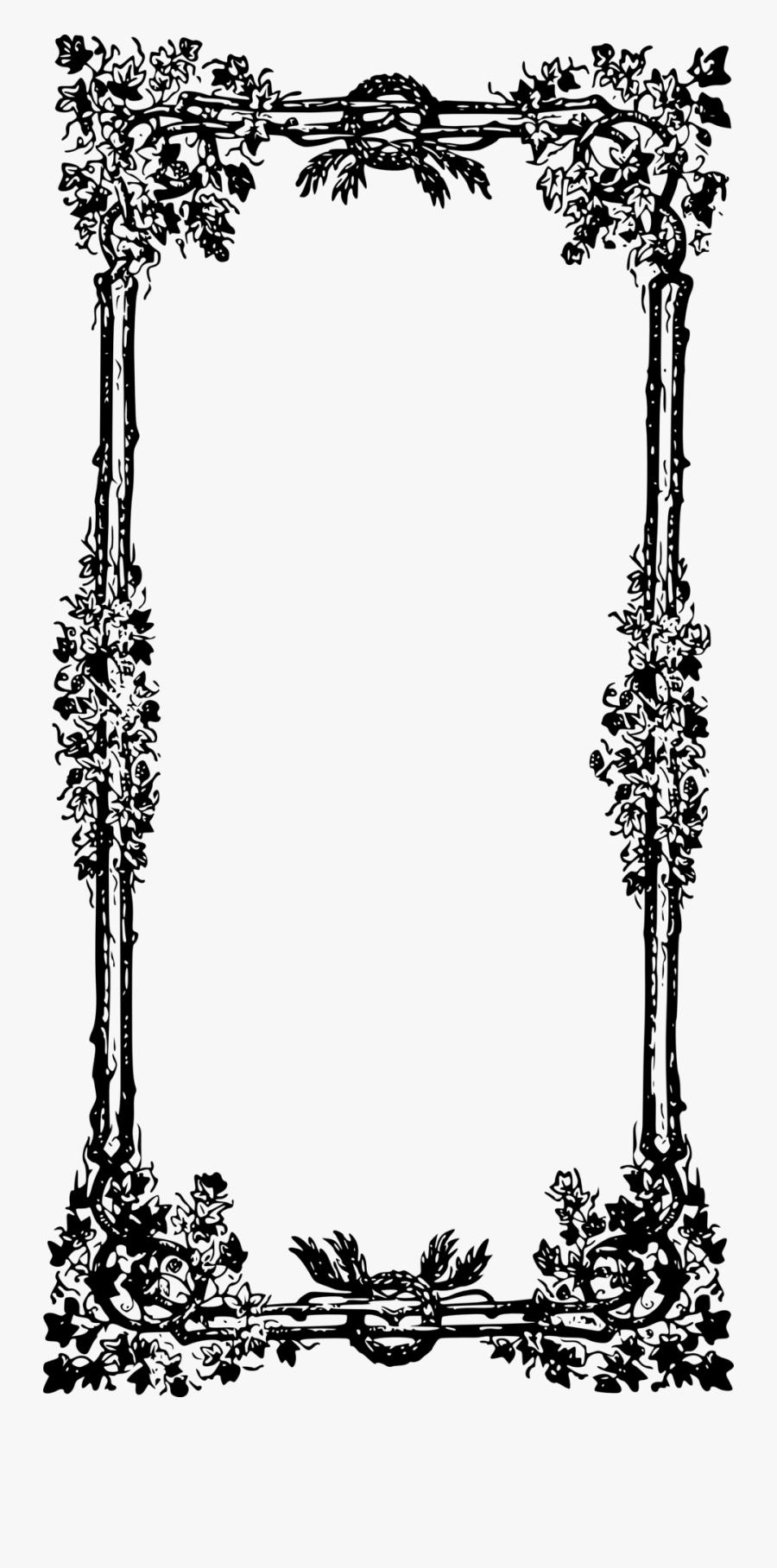 إطار ابيض و اسود, Transparent Clipart